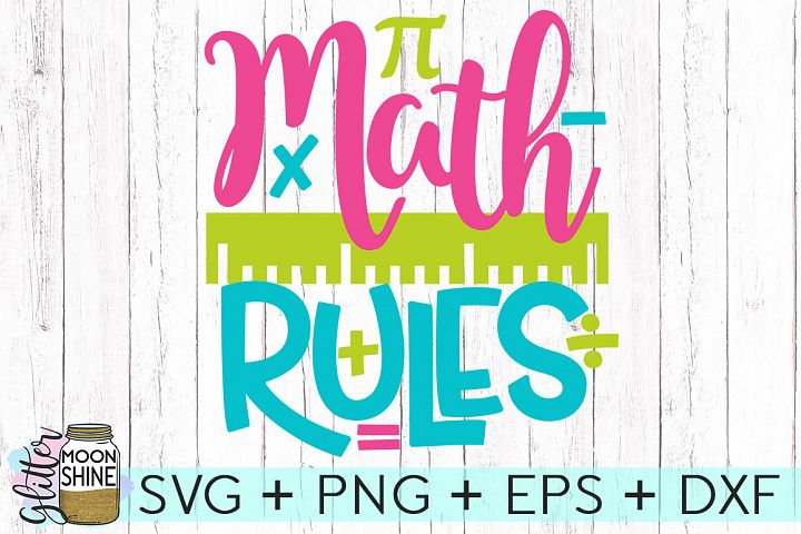 Math Rules SVG DXF PNG EPS Cutting Files