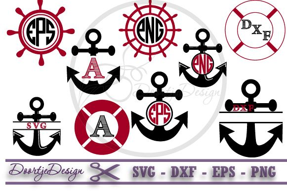 Pirates Monogram Frame SVG