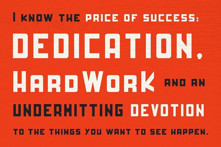 HardWork - Display Font With Styles - Free Font of The Week Design 4