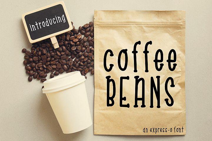 Coffee Beans an Express-o Font
