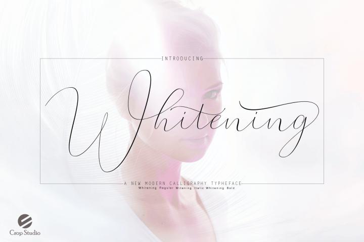 Whitening Font family