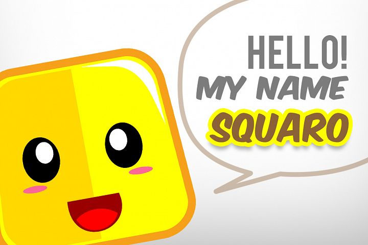 Square Cute Emoticon example 3