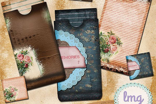 Vintage Memories Junk Journal Envelopes