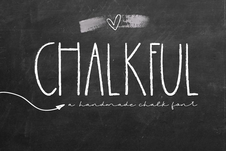 Chalkboard - A Handmade Chalk Font
