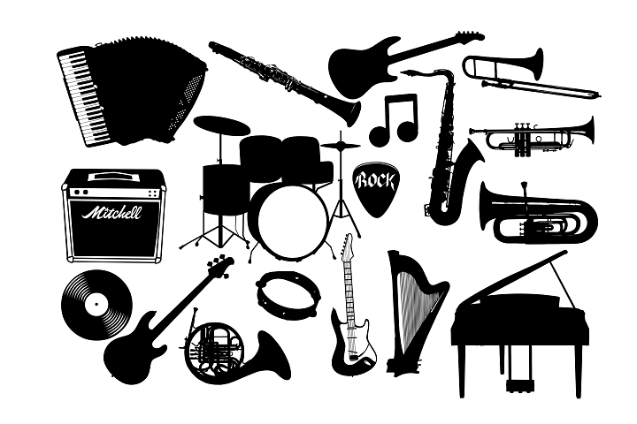 Music instrument SVG DXF EPS PNG AI
