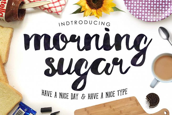 Morning Sugar Typeface + Extra !
