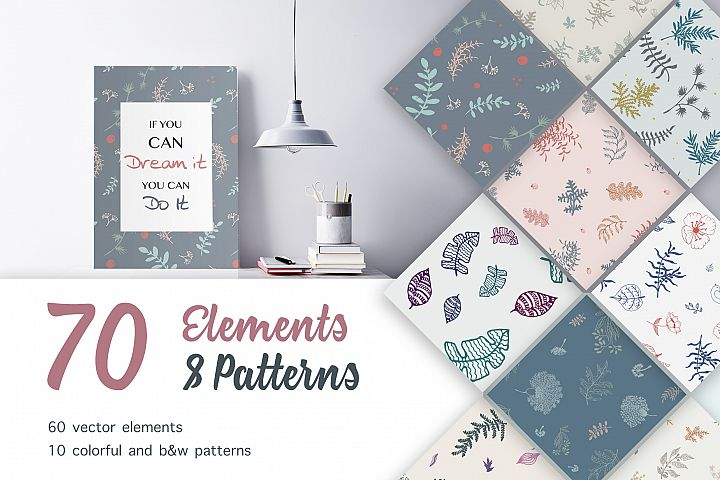 70 Wallpaper Floral Elements and Patterns