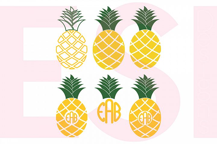 Pineapple Designs and Monograms Set