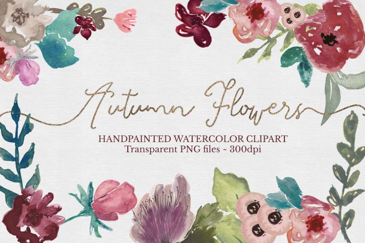 Floral Watercolor Clipart Set