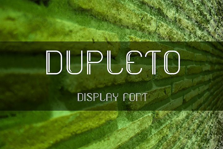 DUPLETO Display font