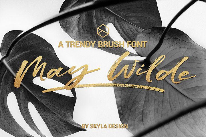 Trendy brush font, May Wilde