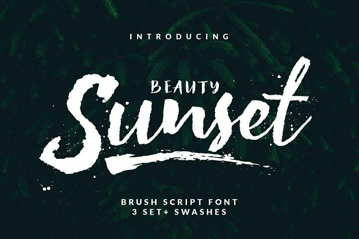 Beauty Sunset + Swashes