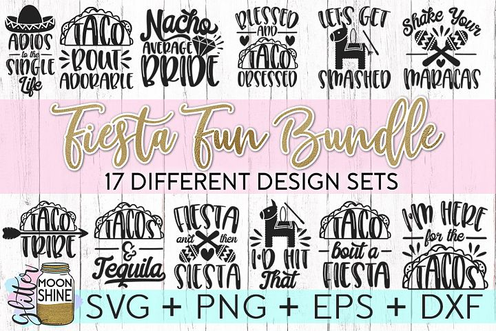 Fiesta Fun Bundle SVG DXF PNG EPS Cutting Files