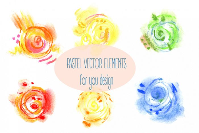 Abstract vector pastel elements