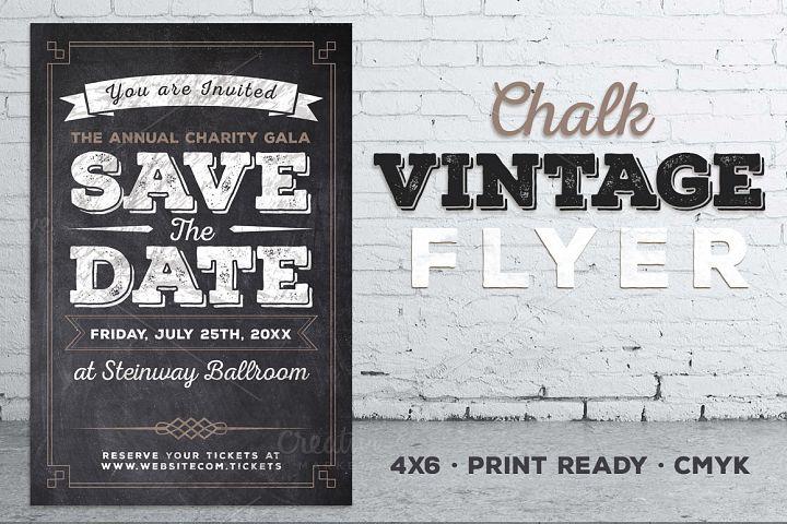 Vintage Chalk Flyer Invite