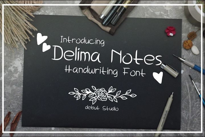 Delima Notes - Handwriting Font