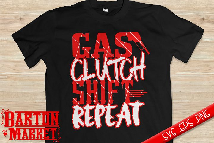 Gas Clutch Shift Repeat SVG / EPS / PNG