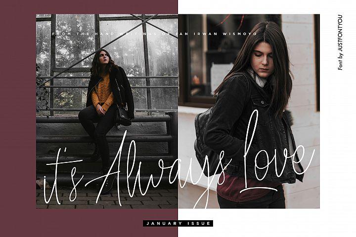 Always Love - Handwritten Font