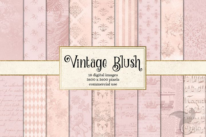 Vintage Blush Digital Paper