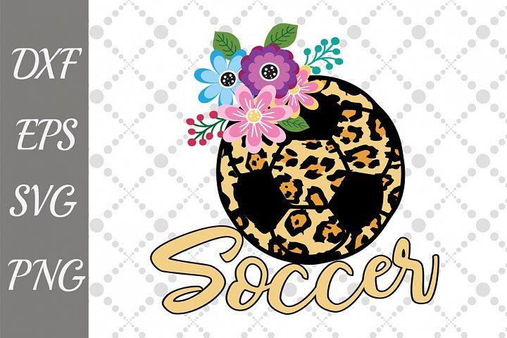 Soccer Svg, ANIMAL PRINT SVG, Soccer cut file,Mom Life Svg