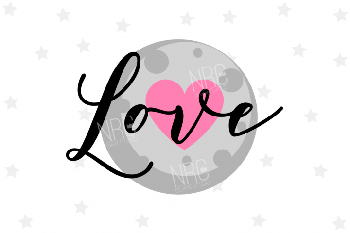 Love Moon SVG File