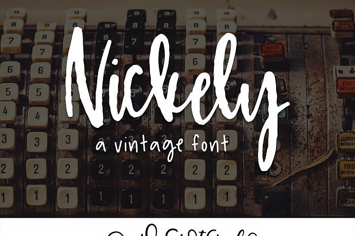 Nickely - A Textured Script