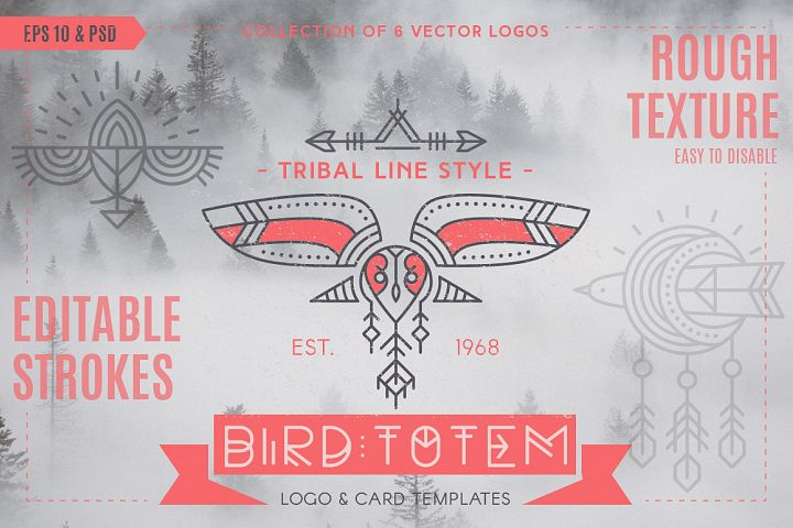 Bird Totem: Tribal Logo Design