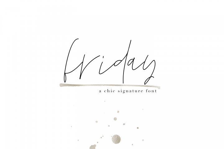 Friday - Chic Signature Font