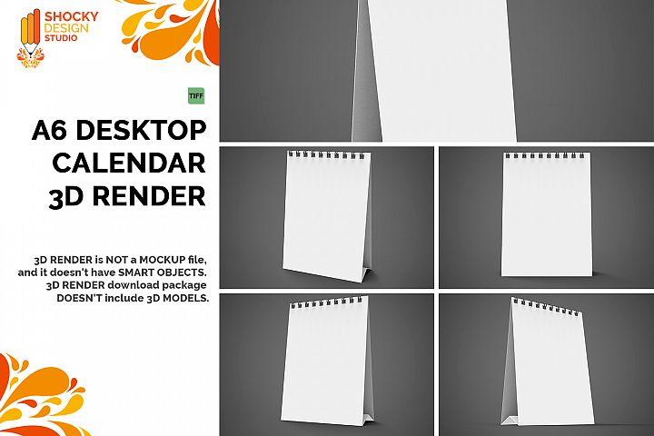 Desktop Calendar 3D Render