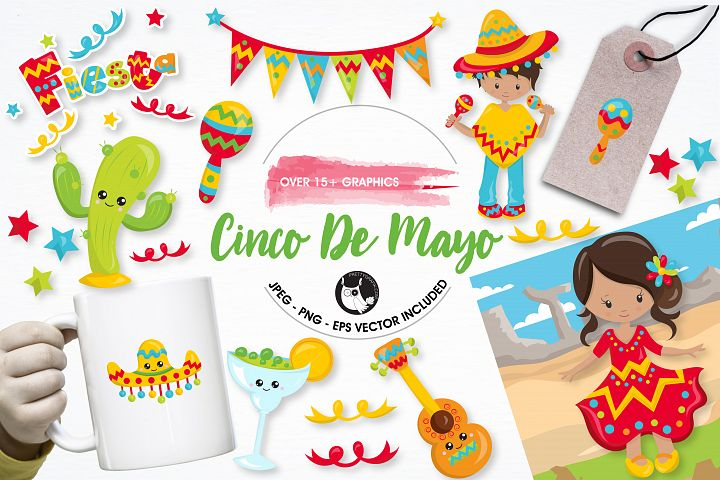 Cinco de mayo graphics and illustrations