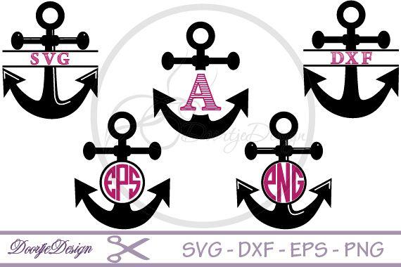 Anchor Monogram SVG files