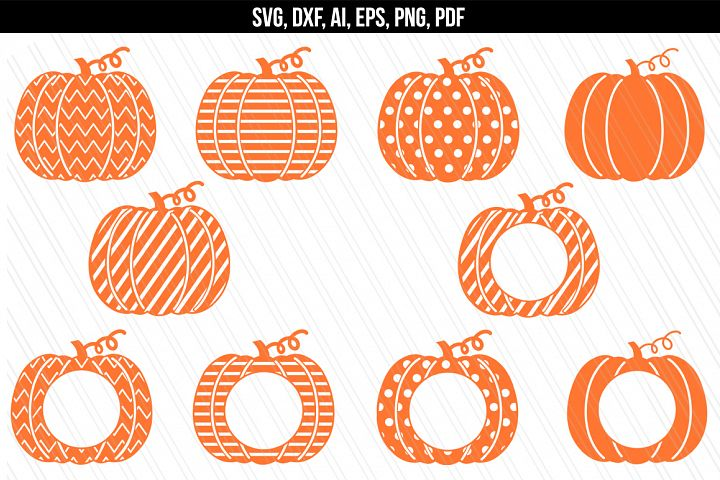Pumpkin monogram svg/ dxf cutting files