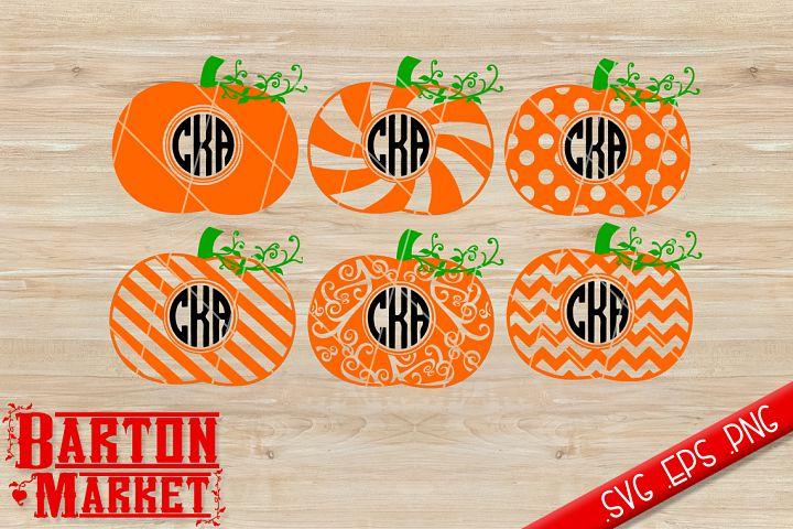 Pumpkin Monogram SVG / EPS / PNG
