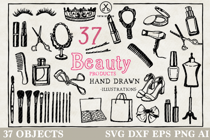 Mamas Toolkit Illustration Pack - Beauty Products SVG