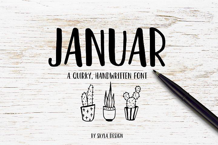 Bold, fun handwritten font - Januar