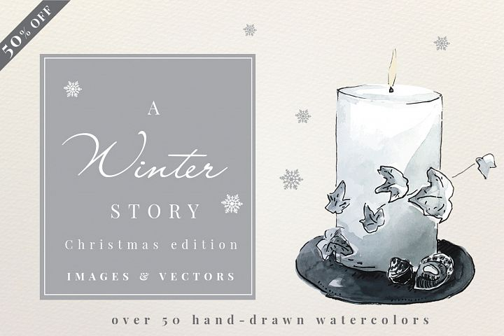 A Winter Story - Watercolors