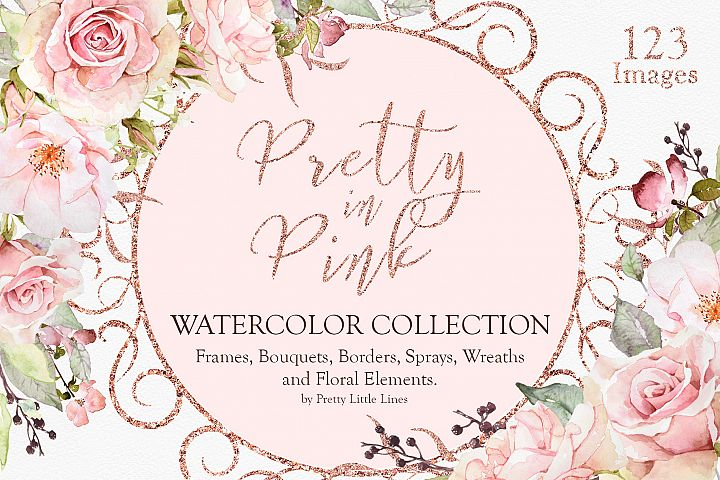 Pretty in Pink Watercolor Collection
