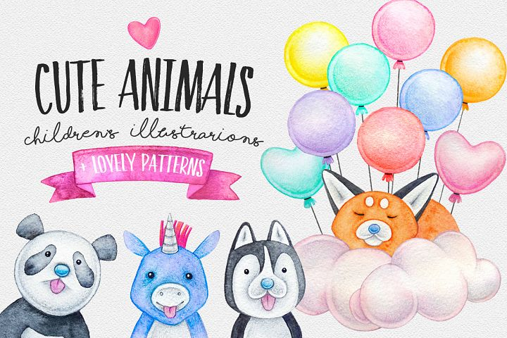CUTE ANIMALS collection BABY SHOWER