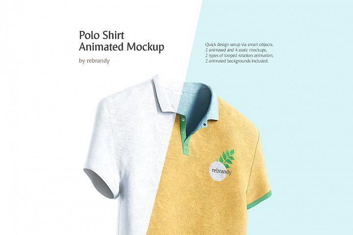 Polo Shirt Animated Mockup (t-shirt mock up, shirt mock-up, polo mockup, tshirt mock)