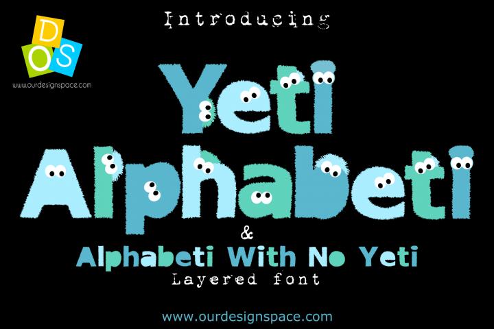 Yeti Alphabeti font