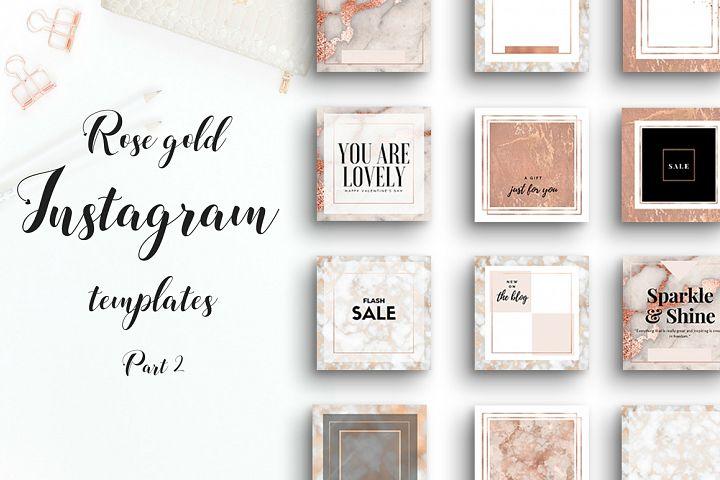 Rose gold Instagram bundle