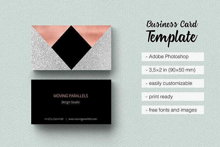 Business cards design bundles rose gold foil marble business card colourmoves