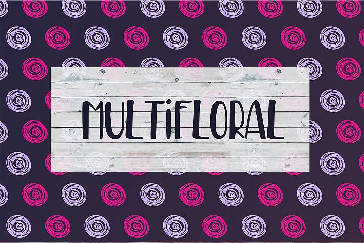 MultiFloral summer font