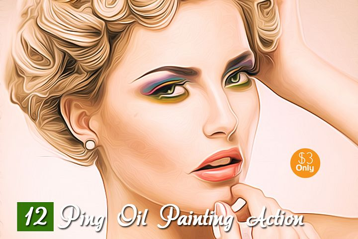 12 Ping Oil Painting Action