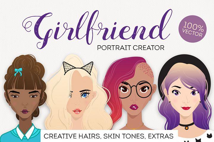 Girlfriend female portrait creator