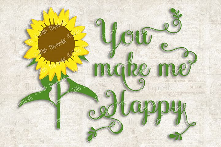 You make me Happy Digital Design