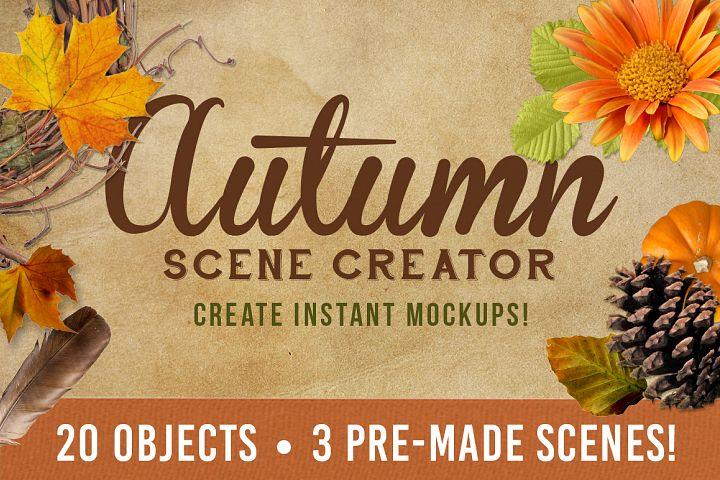 Autumn Mockup Scene Creator