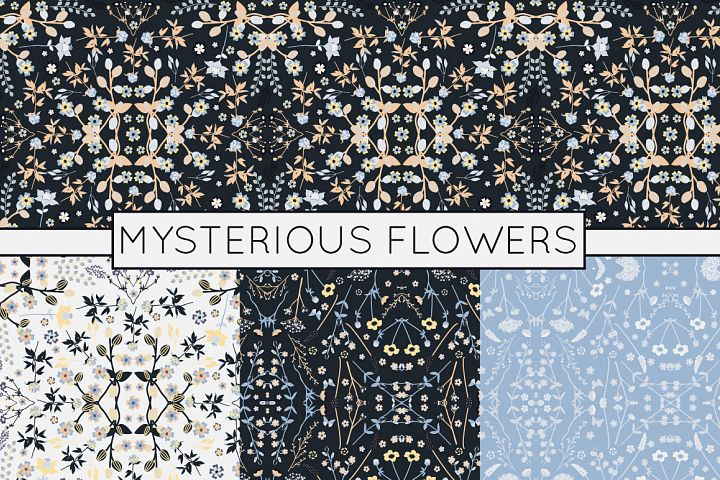 Seamless Floral Patterns - Vector