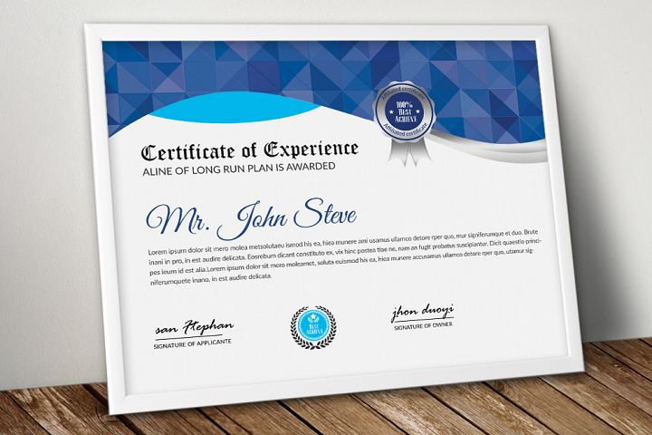Stylish Word Certificate Template