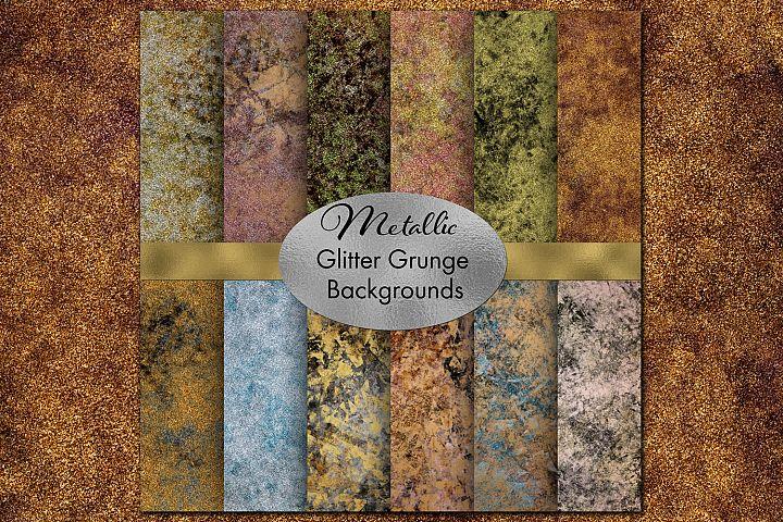 Metallic Glitter Grunge Backgrounds